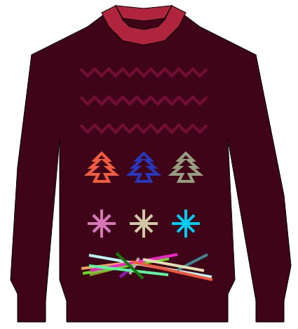 Ugly Christmas Sweater made with polygons