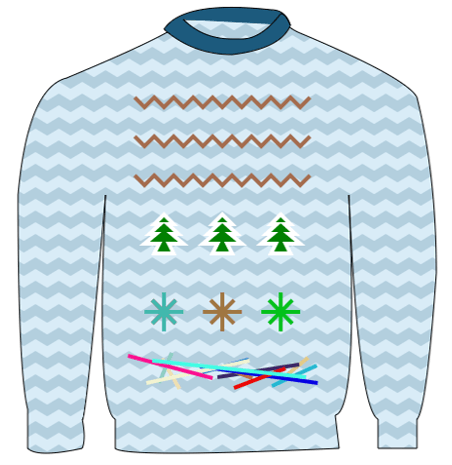 Sweater 2 with curves and SVG patterns