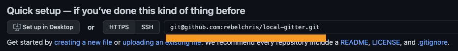 GitHub repo url
