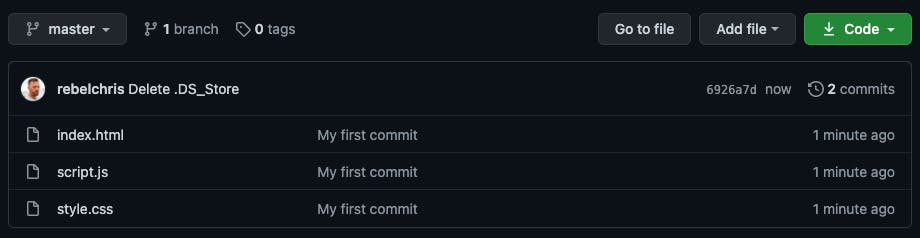 GitHub with all our files