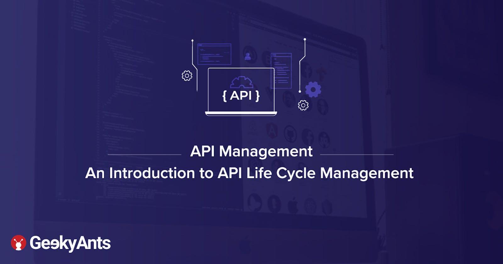 API Management Part 1 - An Introduction to API Life Cycle Management