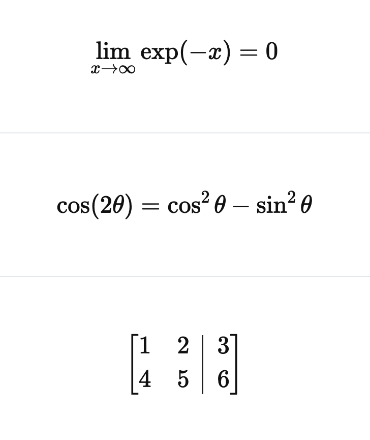 Latex examples