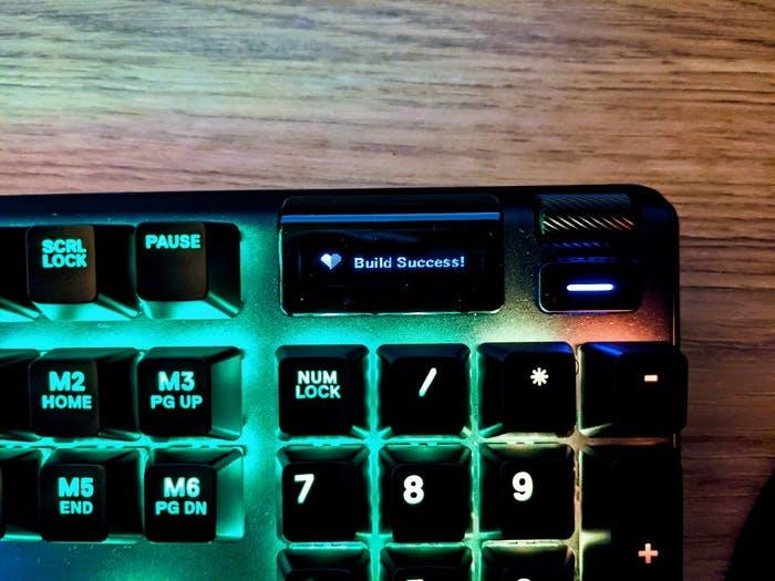 Build success on the Steelseries keyboard display