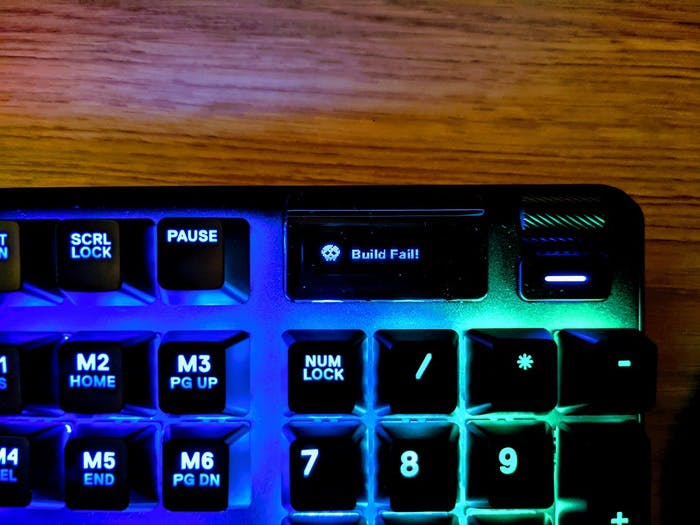 Build fail on the Steelseries keyboard display