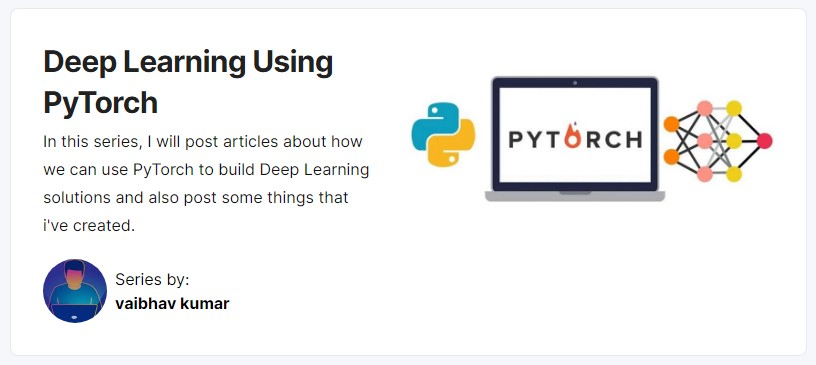 Deep Learning using PyTorch