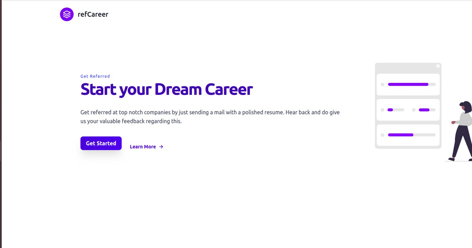 refCareer - A single click to your next dream referral  #christmashackathon