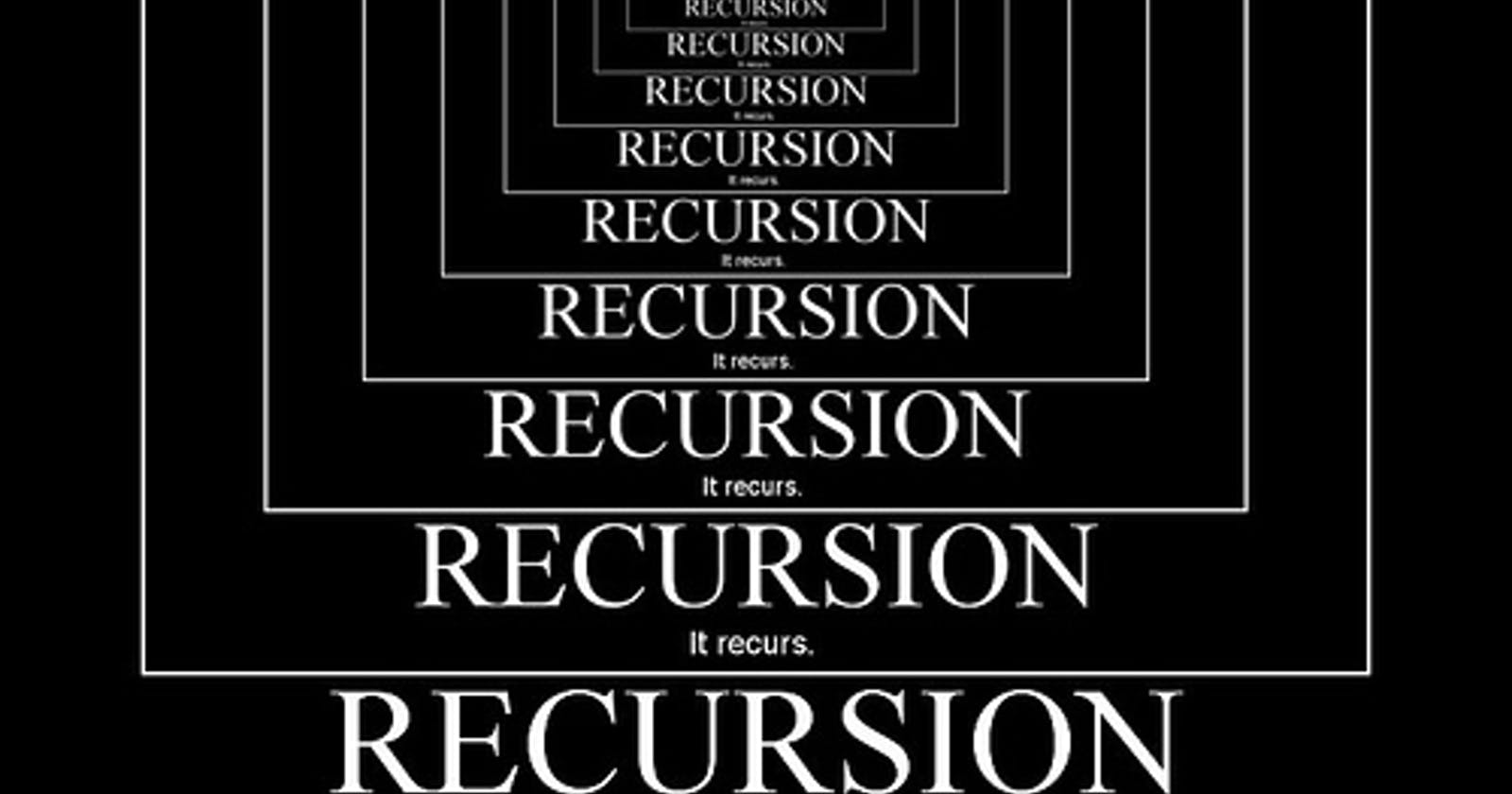 Recursively thinking about... recursion
