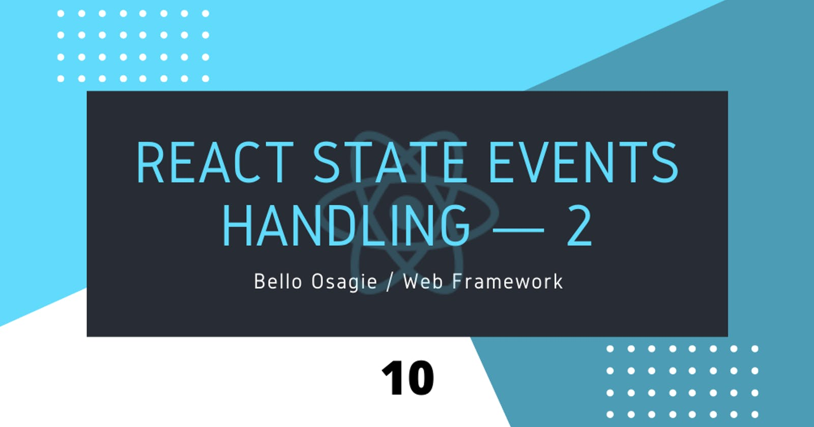 React State Events Handling — 2