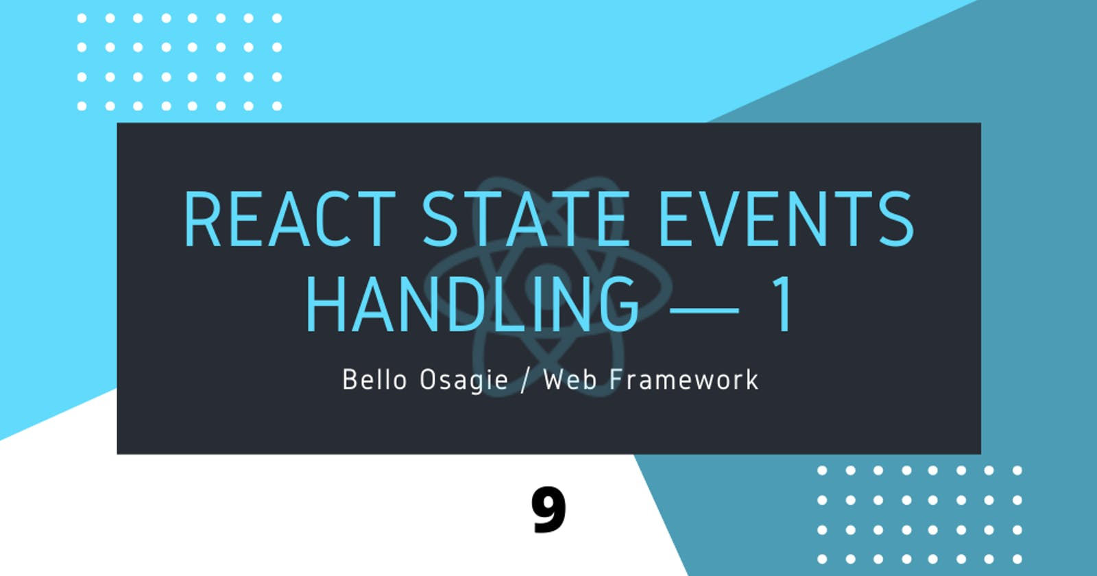 React State Event Handling — 1