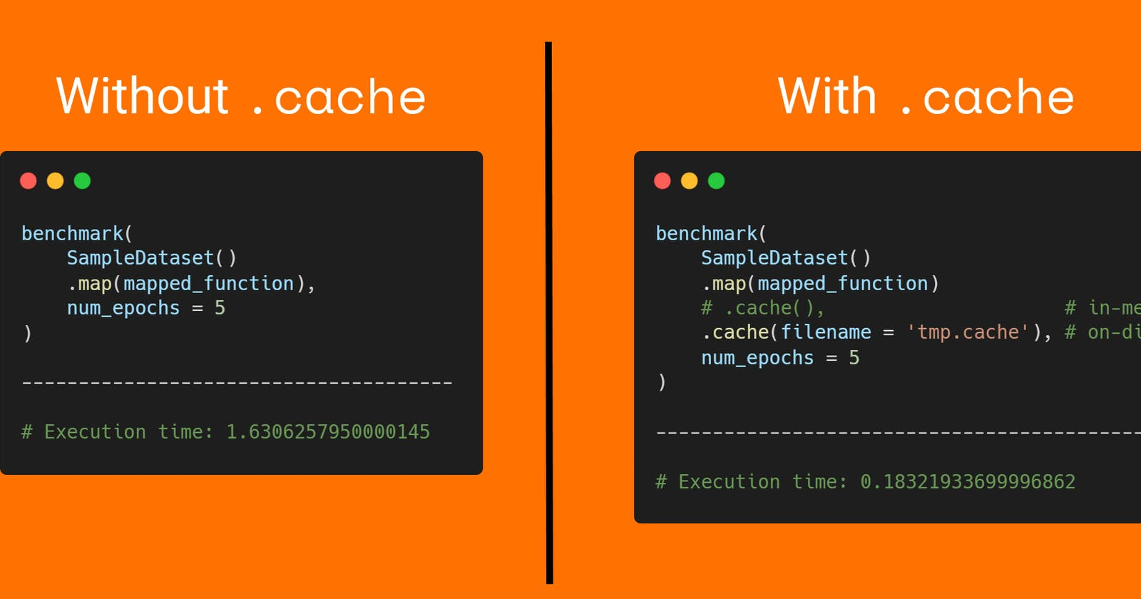 💡TensorFlow Tip, use .cache