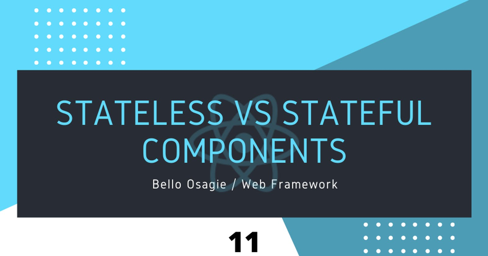 React Stateless VS Stateful Components
