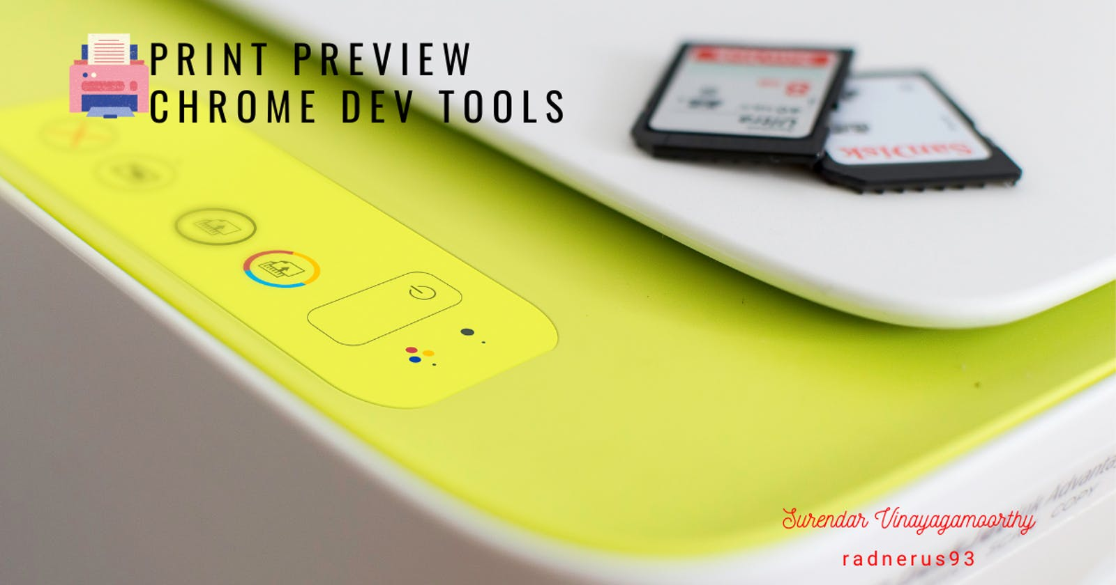 Designing the Print Preview - Chrome Dev Tools