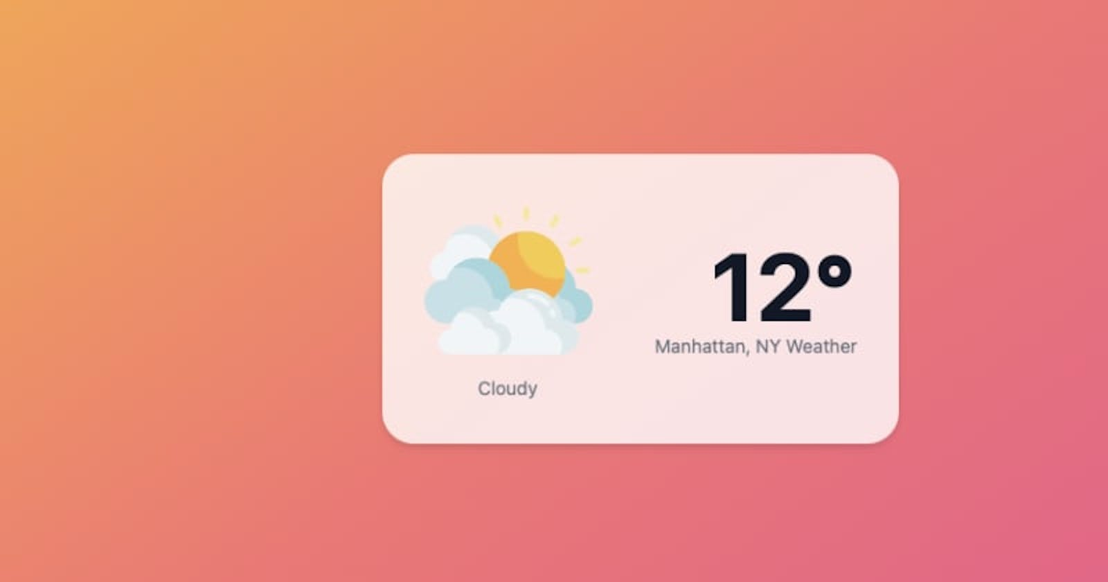Weather card with TailwindCSS