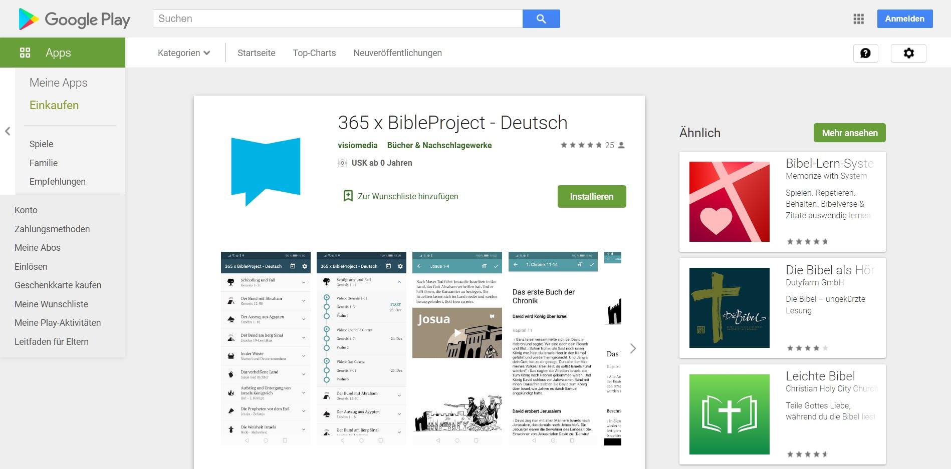 365 x BibleProject - Deutsch Appstore Screenshot