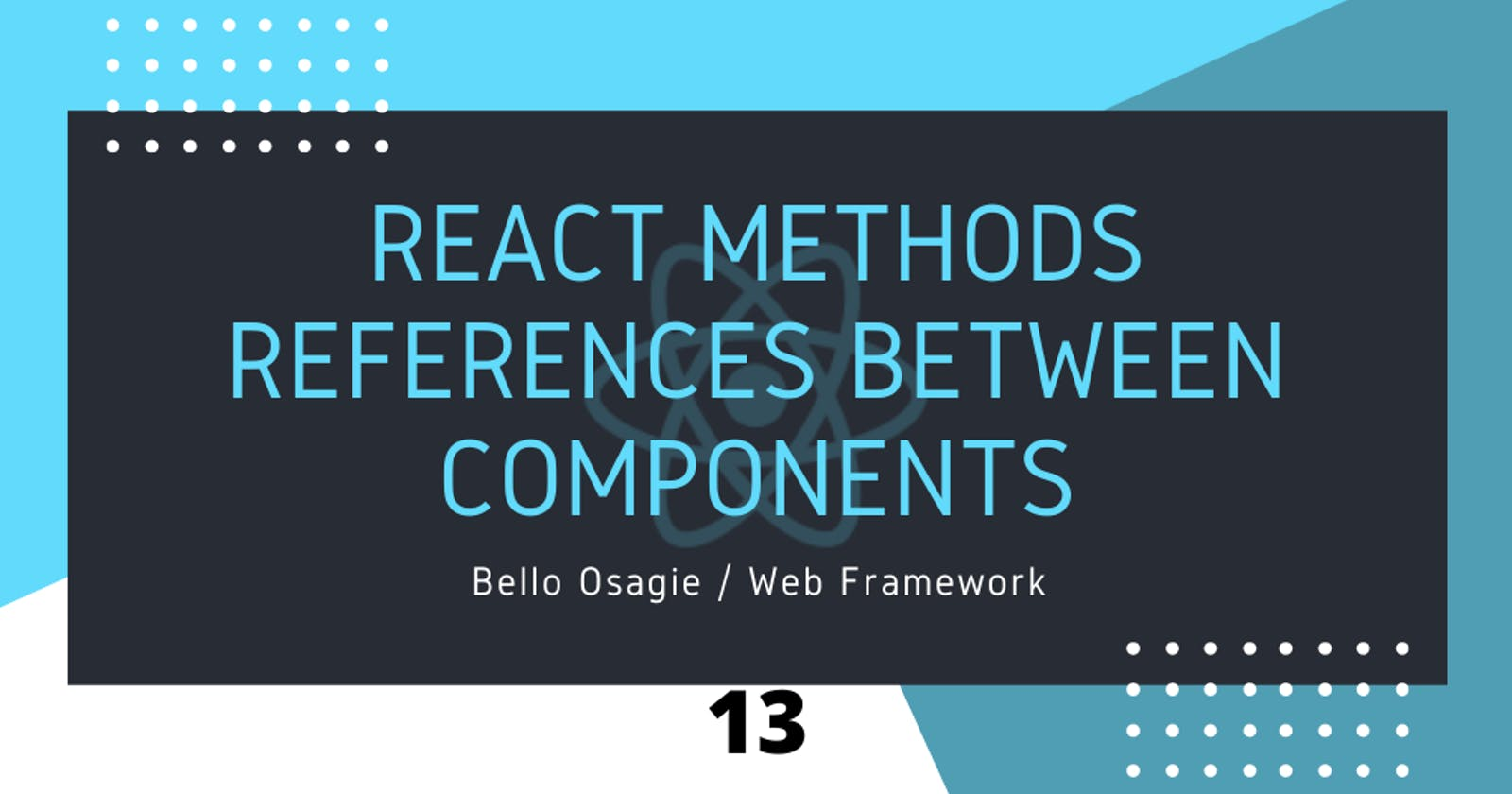React Method References Between Components