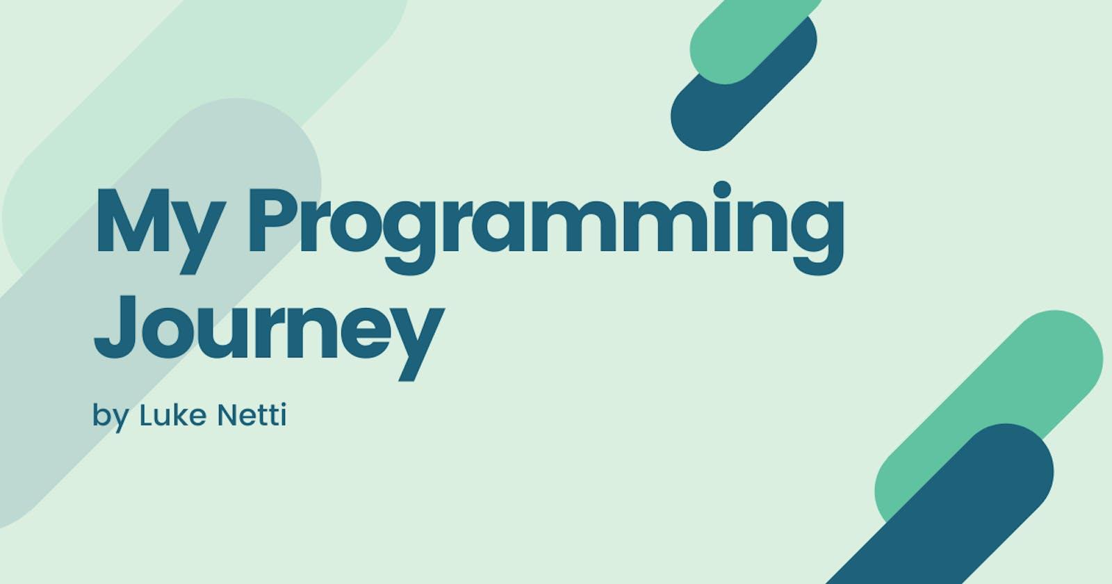My Programming Journey