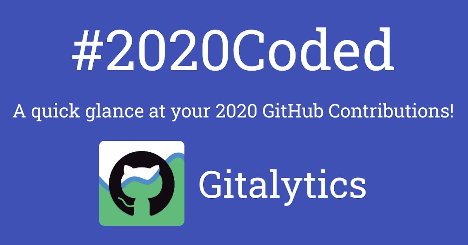 I created Gitalytics - A simple overview of Github activities