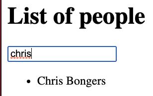 Angular search list result