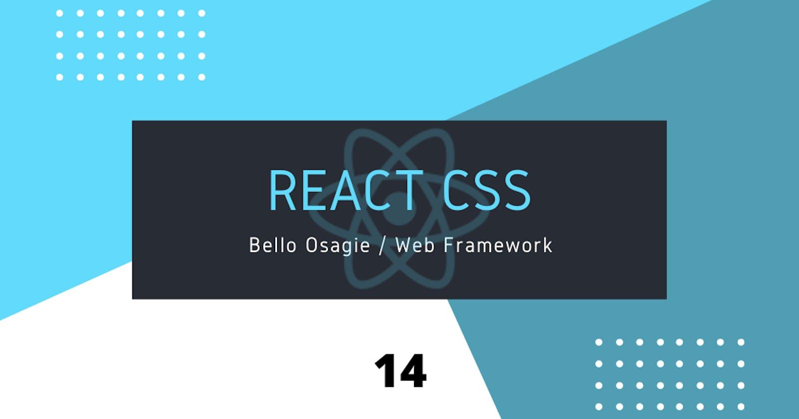 React CSS