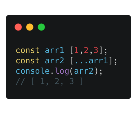 Using the spread operator to copy an array