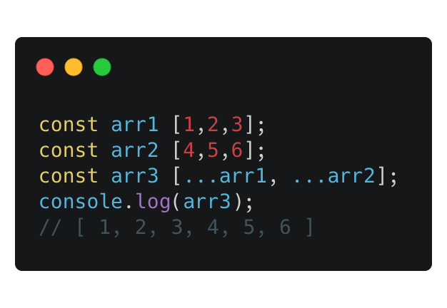 Combining arrays using the spread operator