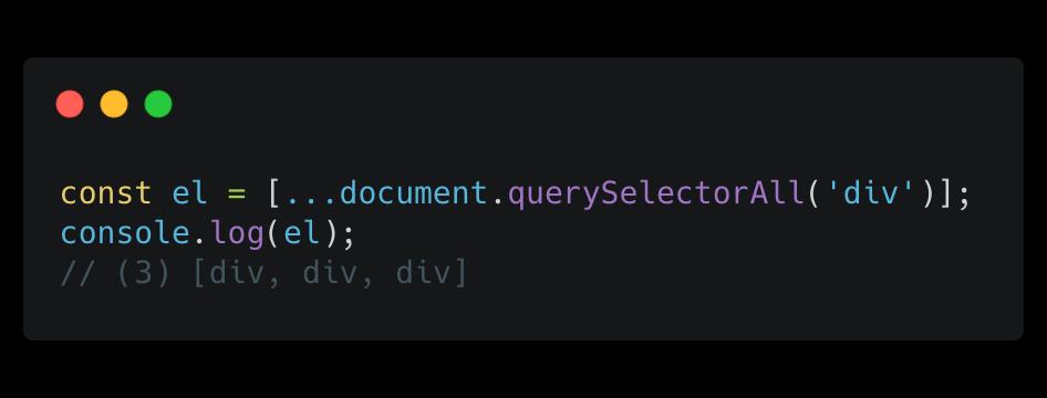 Convert nodeList results into an array