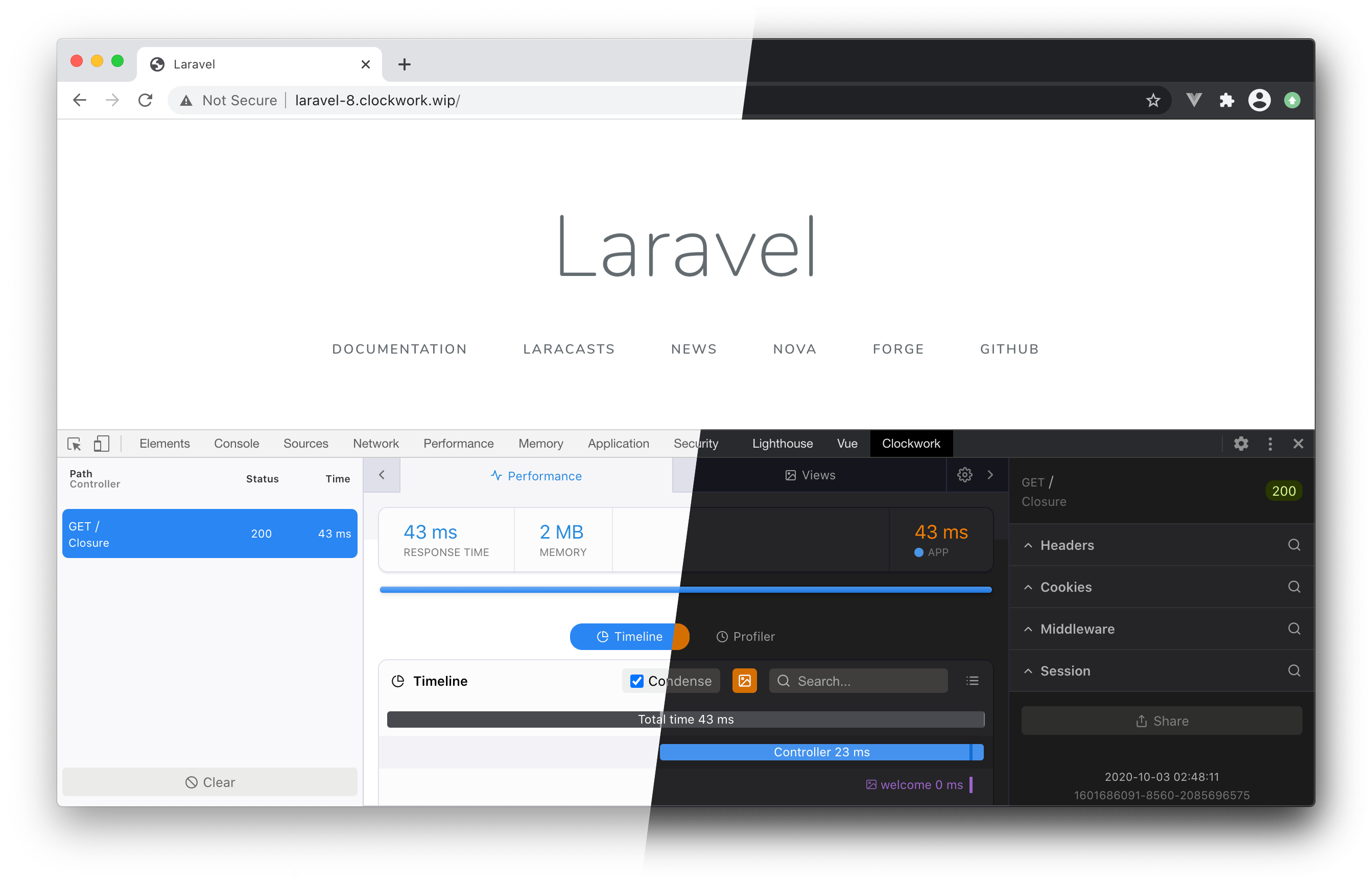 Laravel Clockwork image