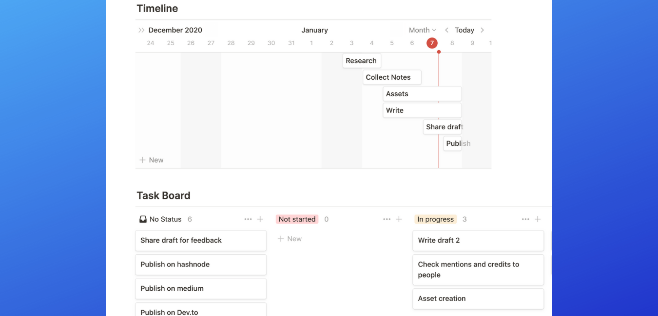 Notion article planner ongoing articles page screenshot.png