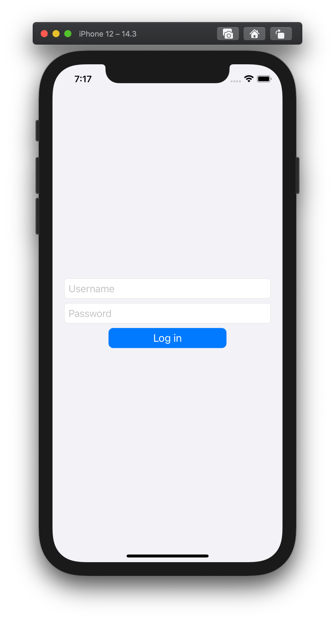 Basic Login Layout
