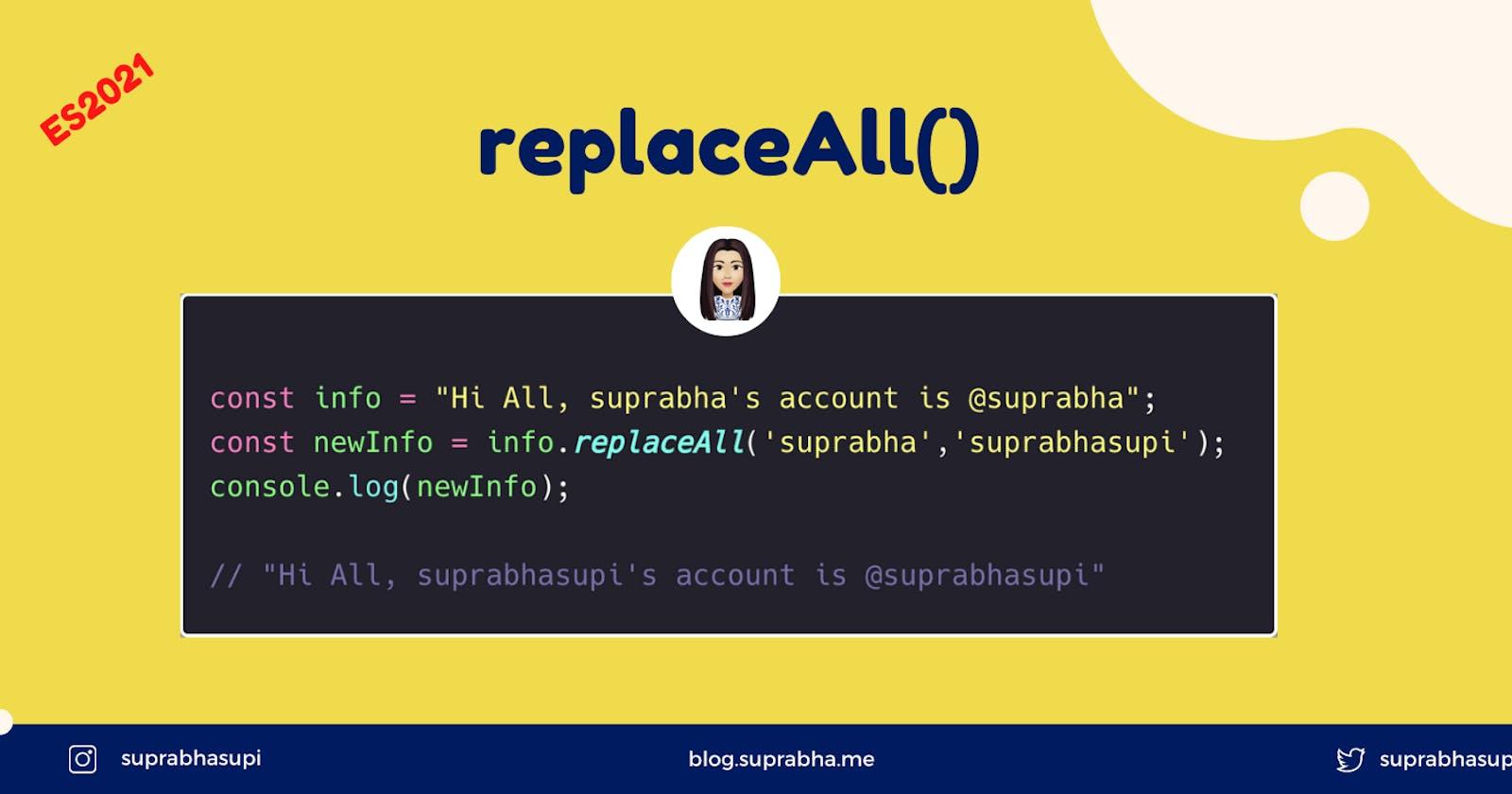 replaceAll in JavaScript