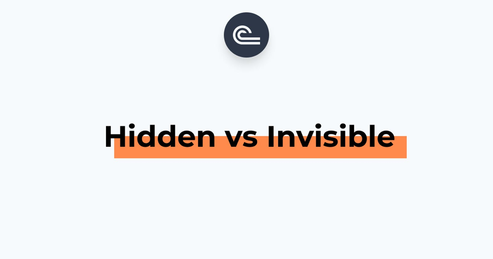 Difference between invisible and hidden utilities