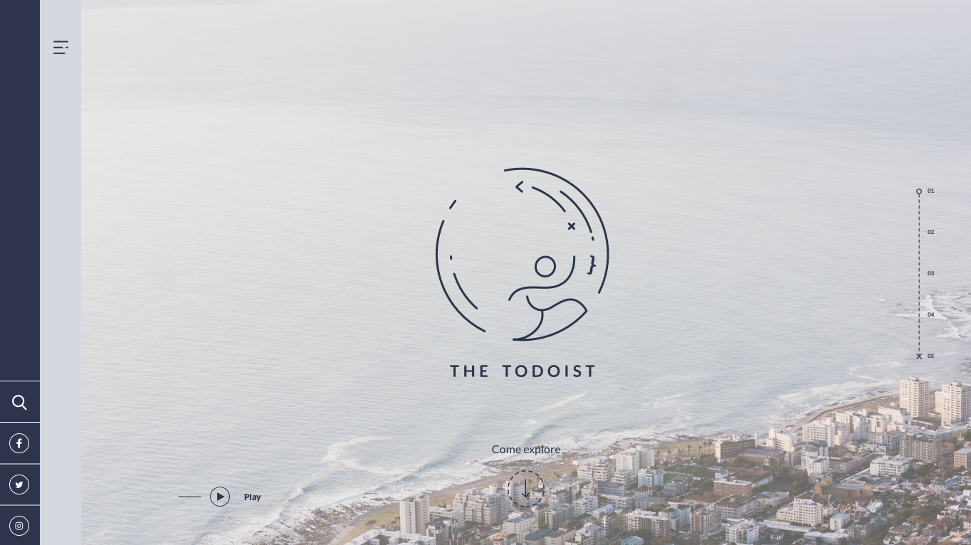 The Todoist homepage
