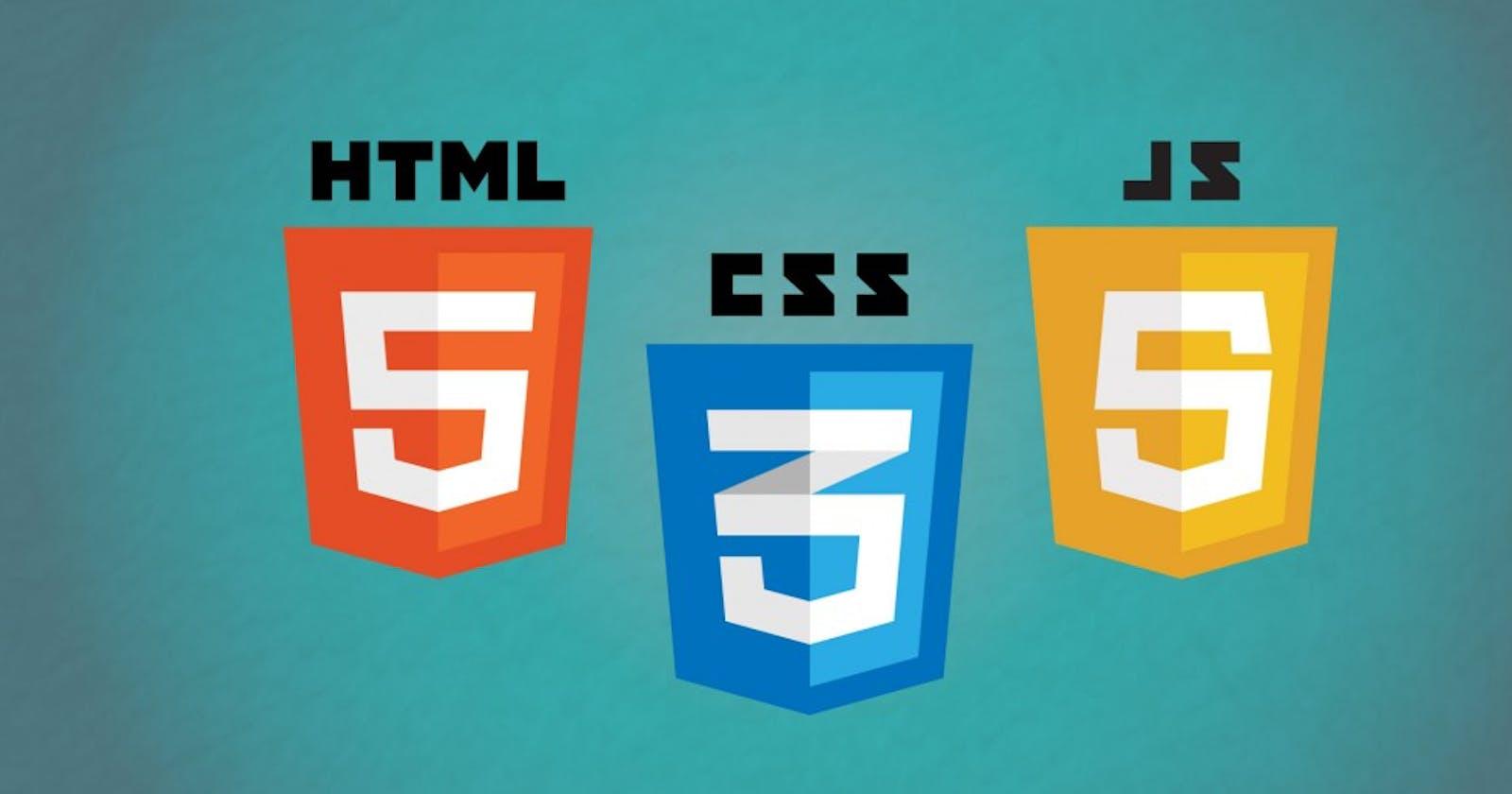 Understanding HTML, CSS and JavaScript.