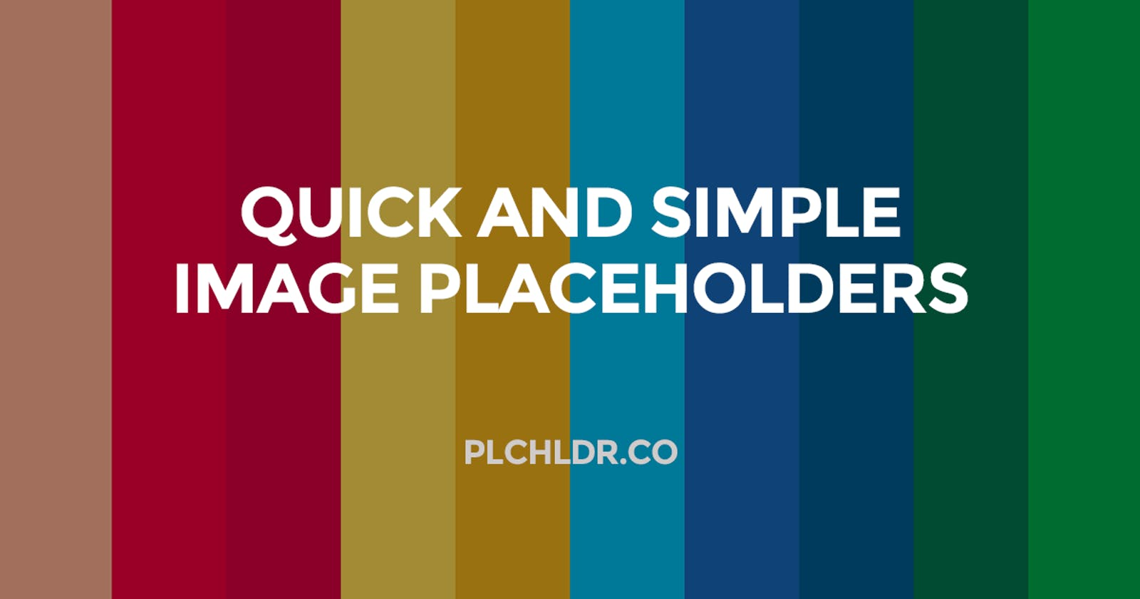 Quick and simple image placeholder