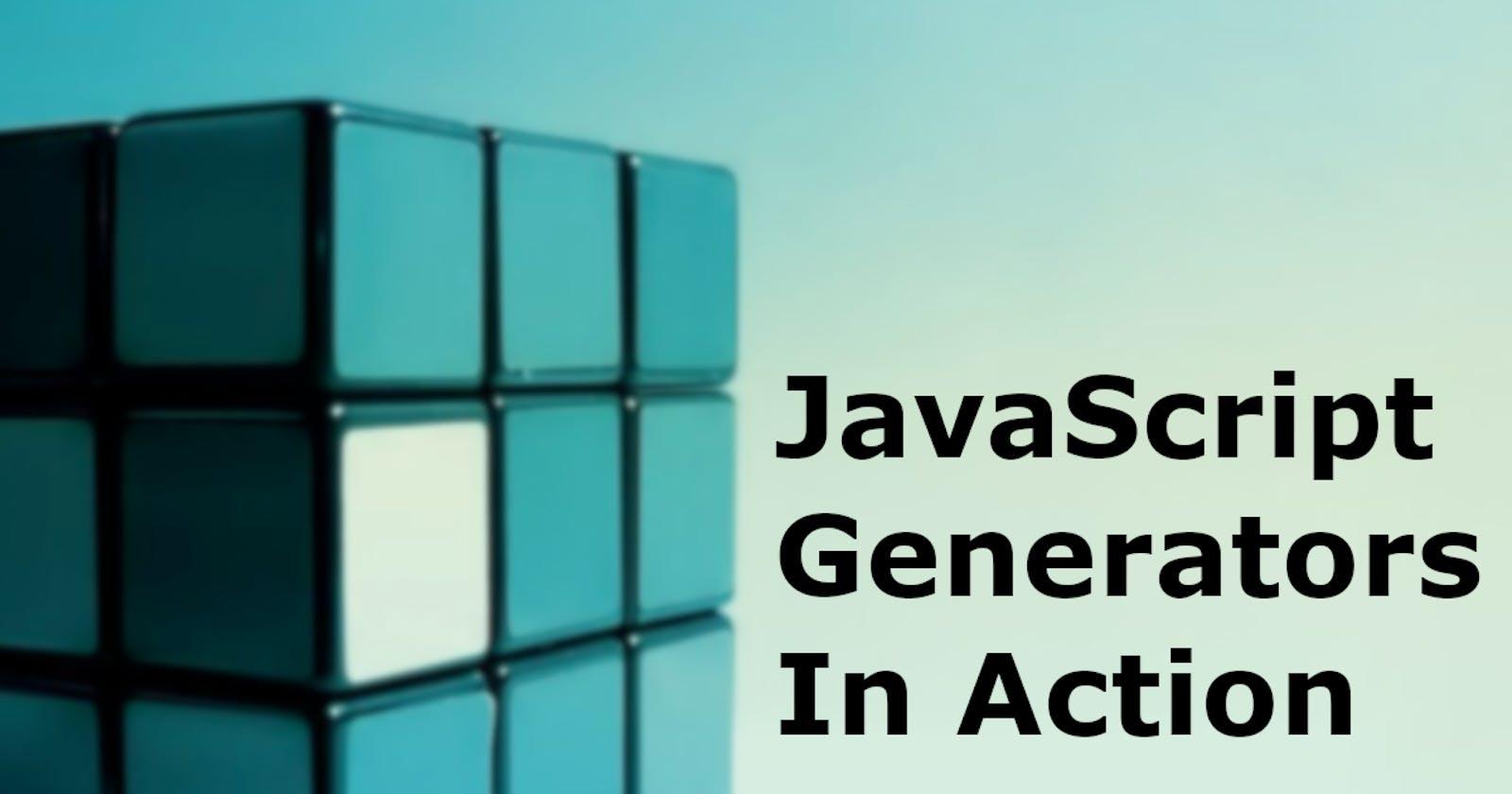 Using JavaScript generators to optimize APIs