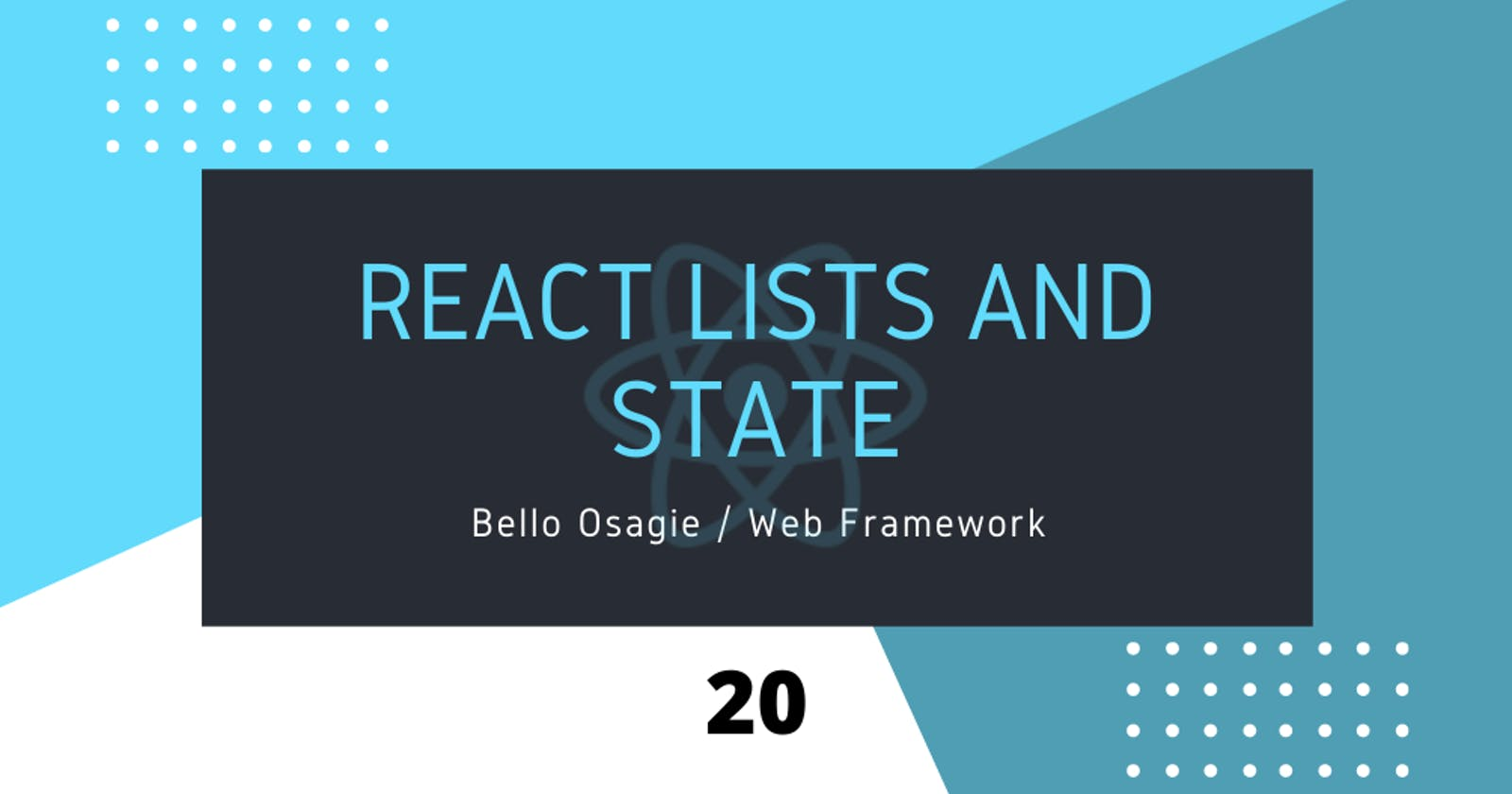 React Lists and State
