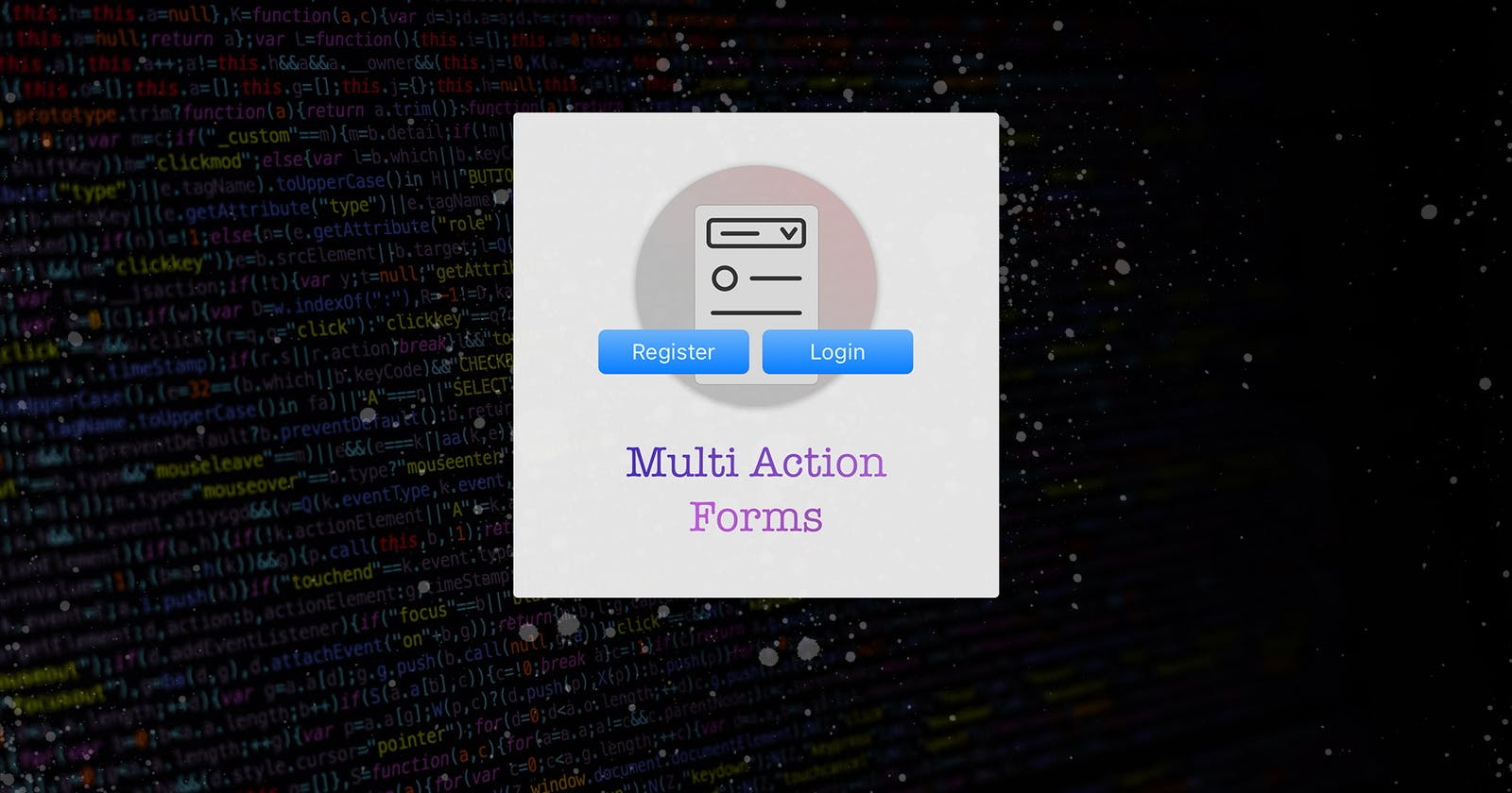 🚦Submitting a Form to different Actions in HTML5