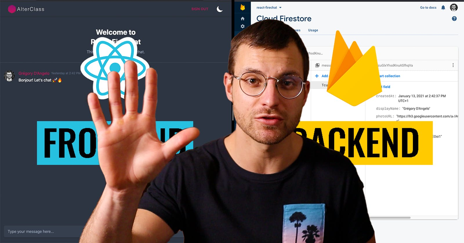 Build a REALTIME CHAT APP in 5 MIN with React and Firebase