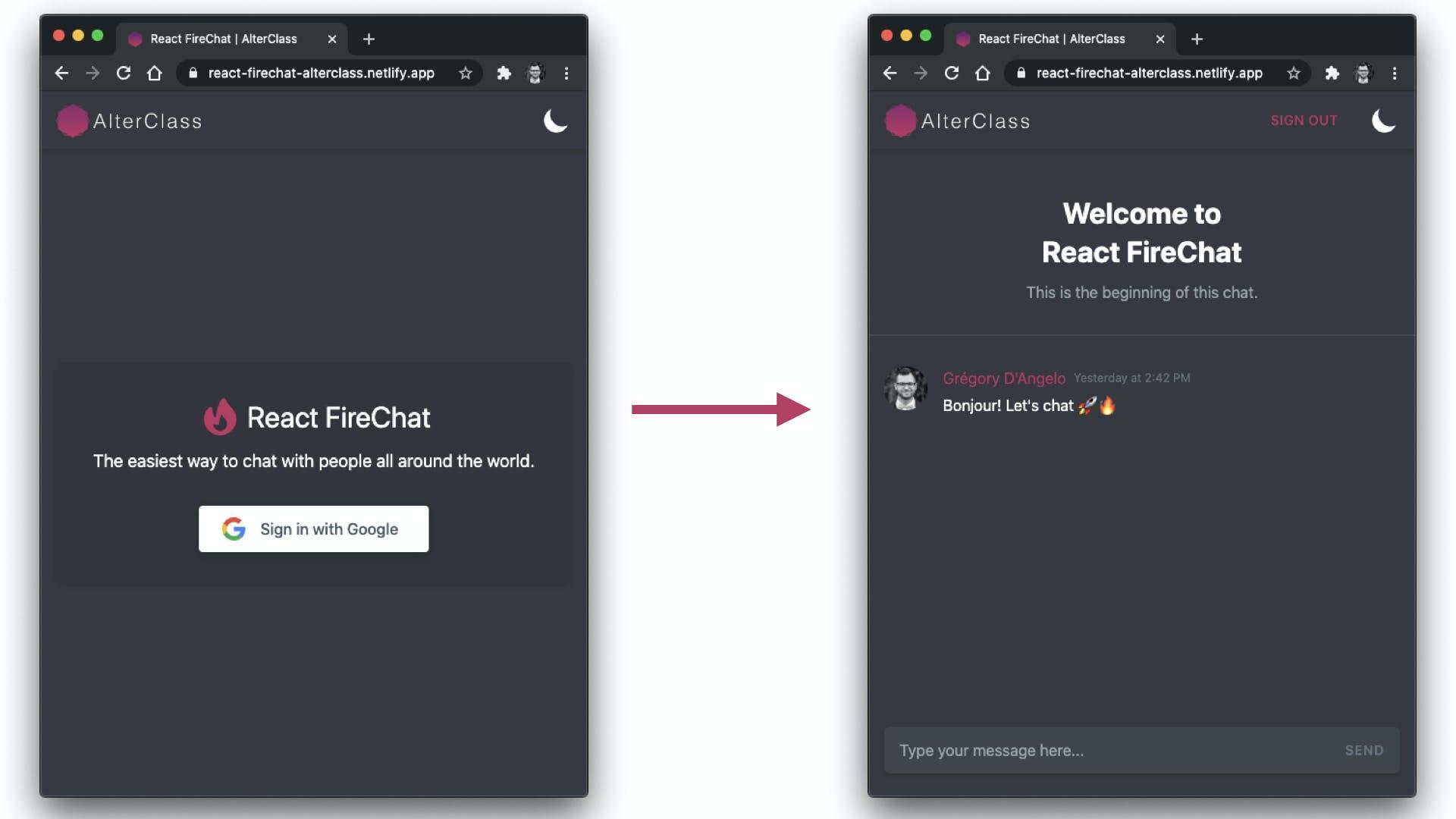 React Firebase App Views