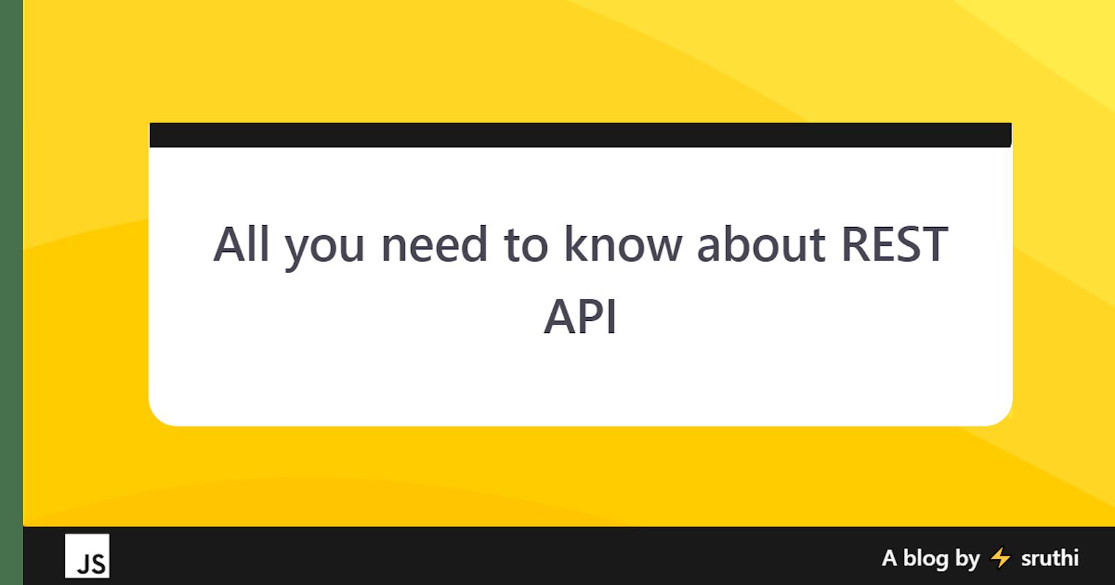 Rest API - A Brief