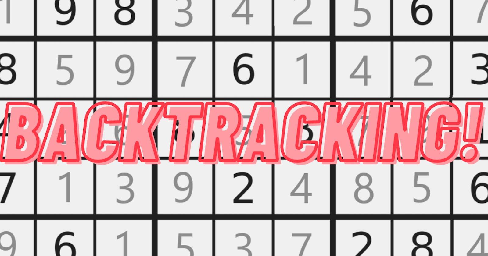 Solving a Sudoku board using BackTracking.