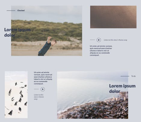 Lifestyle blog newsletter layout design