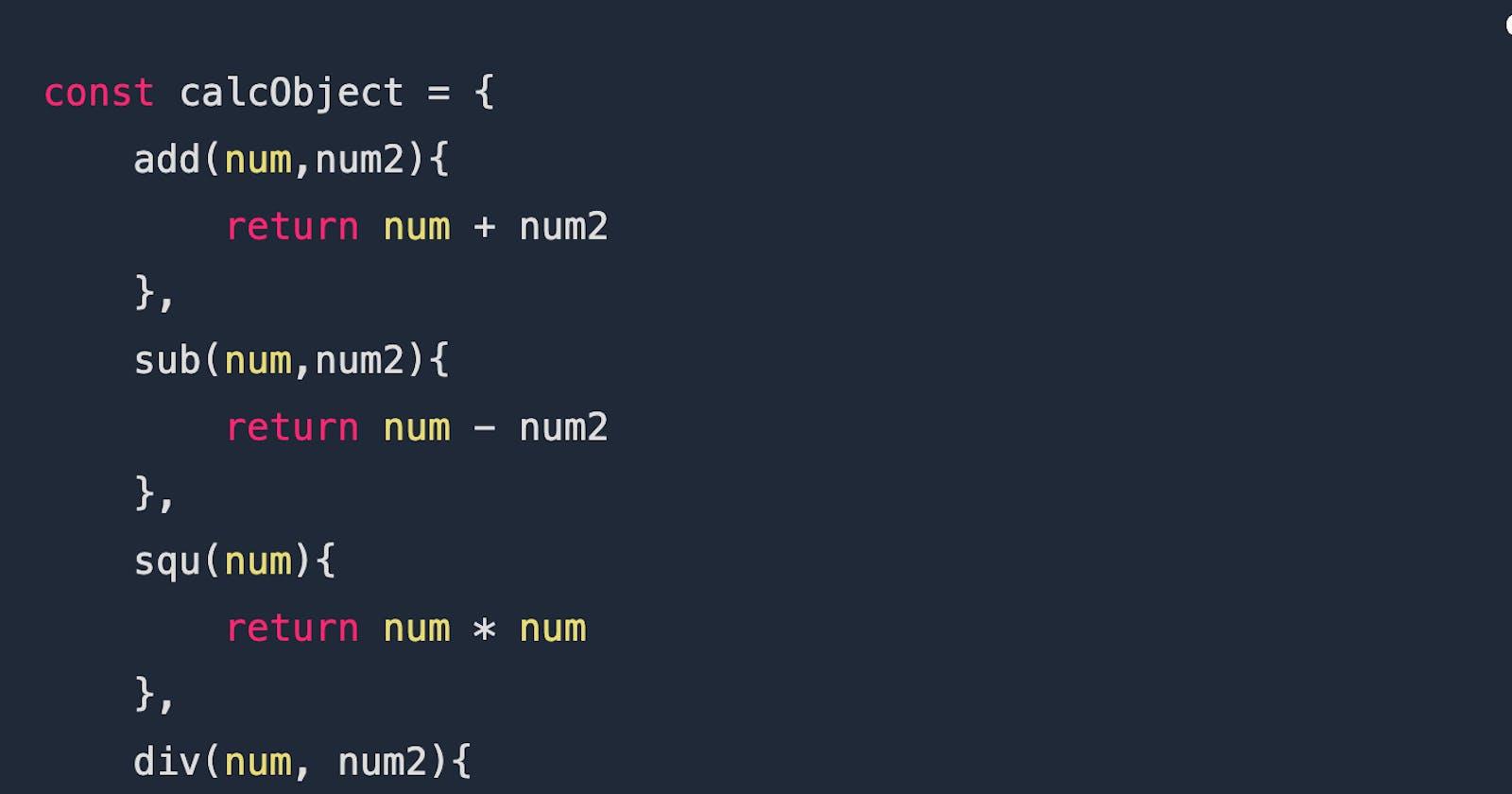 Defining JavaScript Methods