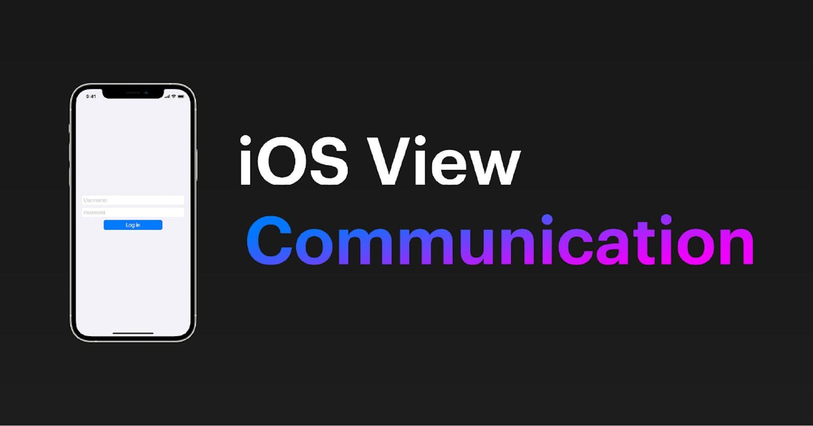 iOS View Communication