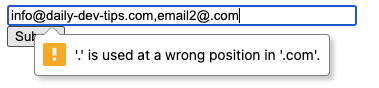 Email second address wrong