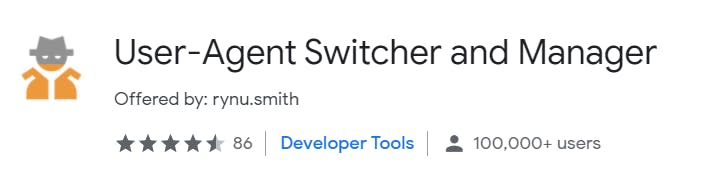 User-Agent Switcher and Manager Extension Logo