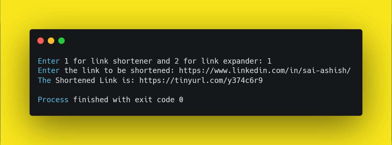 URL Shortener using python