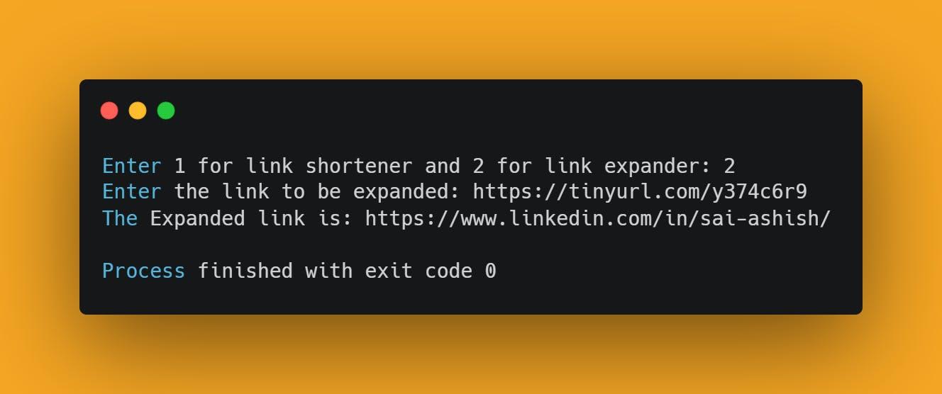 URL Expander using python