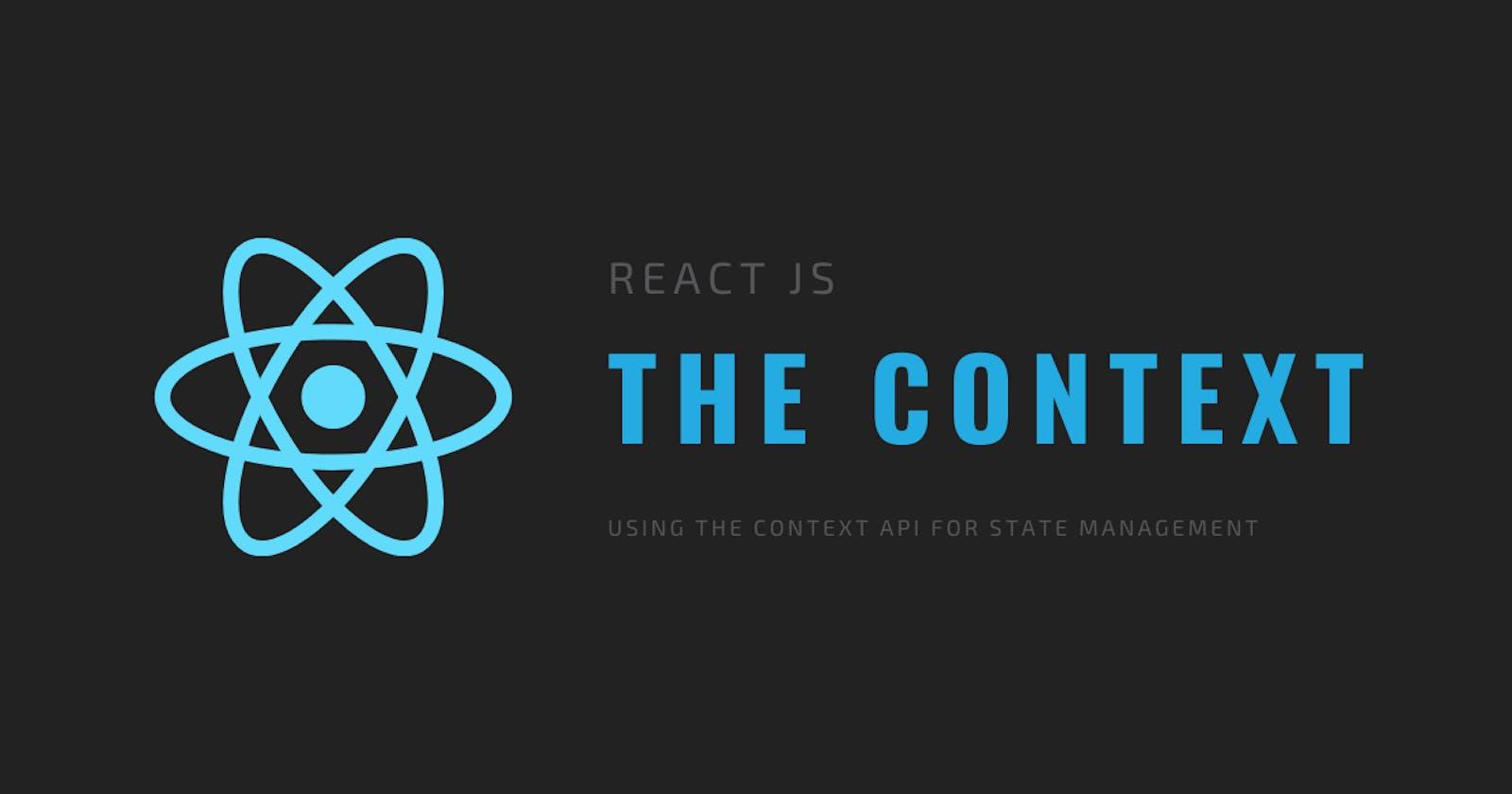 React Context - State Management