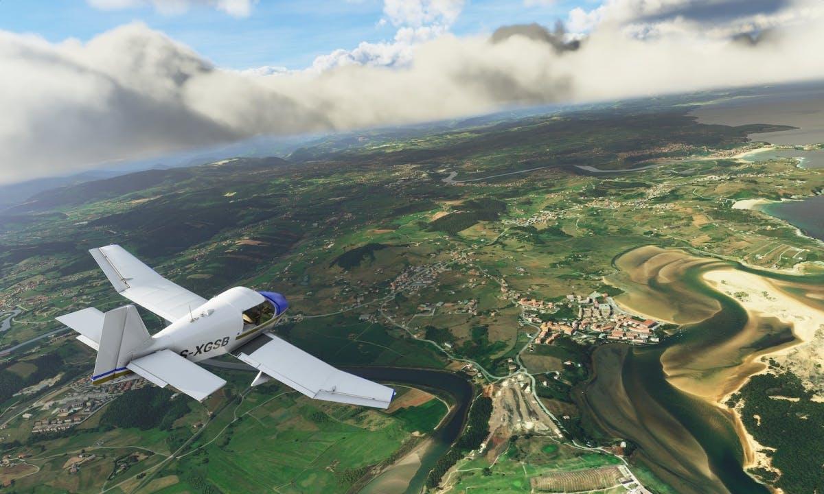 Terrain in Microsoft Flight Simulator (2020). Image by Asobo Studio/Xbox Game Studios